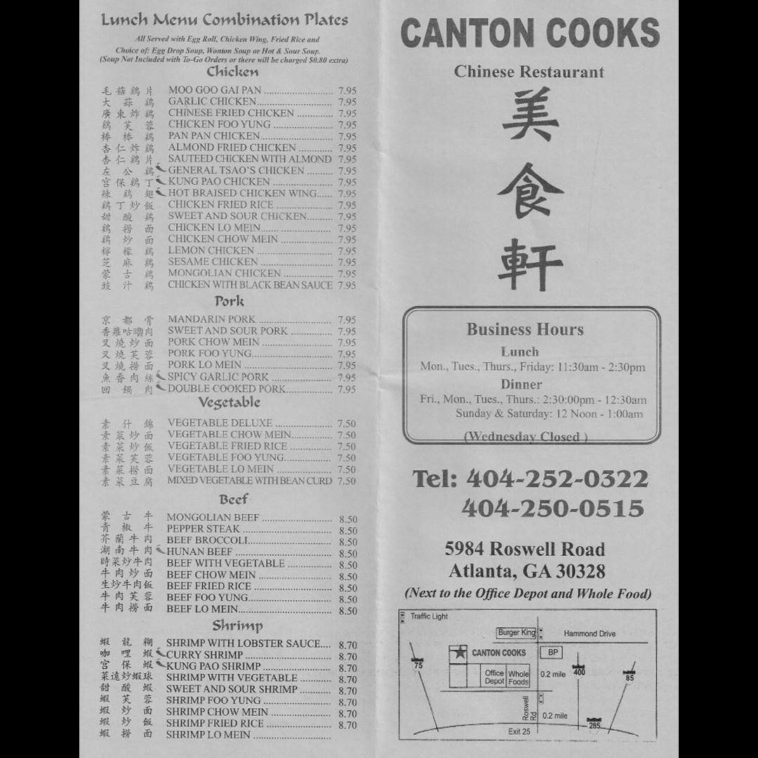Canton Cooks - Chinese Restaurant - Atlanta, GA